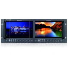 "(ProHD) 9"" x 2 LCD 1920x1200 Rack Monitor, 2K/3G-SDI,HDMI,  incl. AC Adapter"